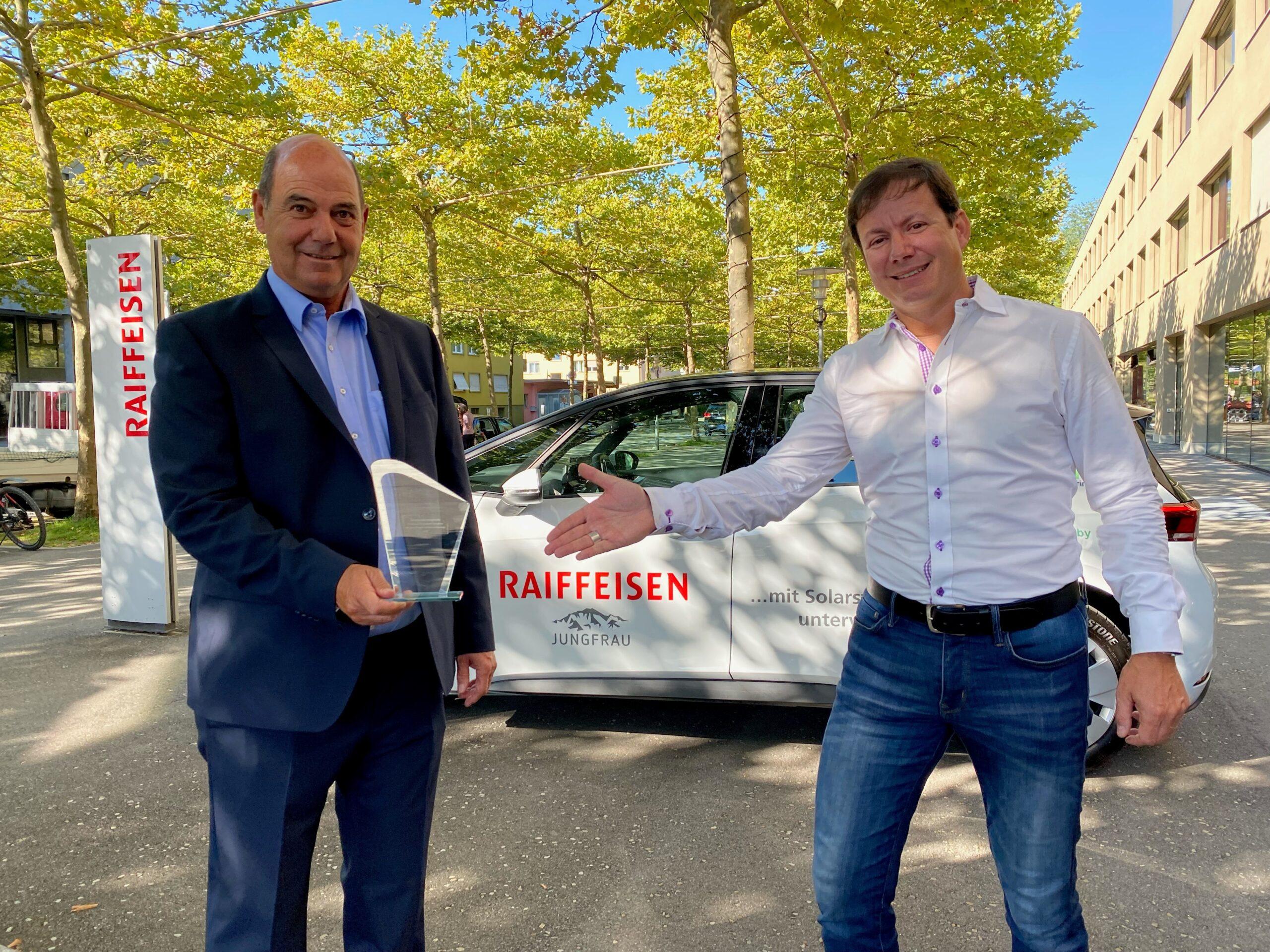 edrive carsharing der Raiffeisenbank Jungfrau gewinnt Innovationspreis 2021