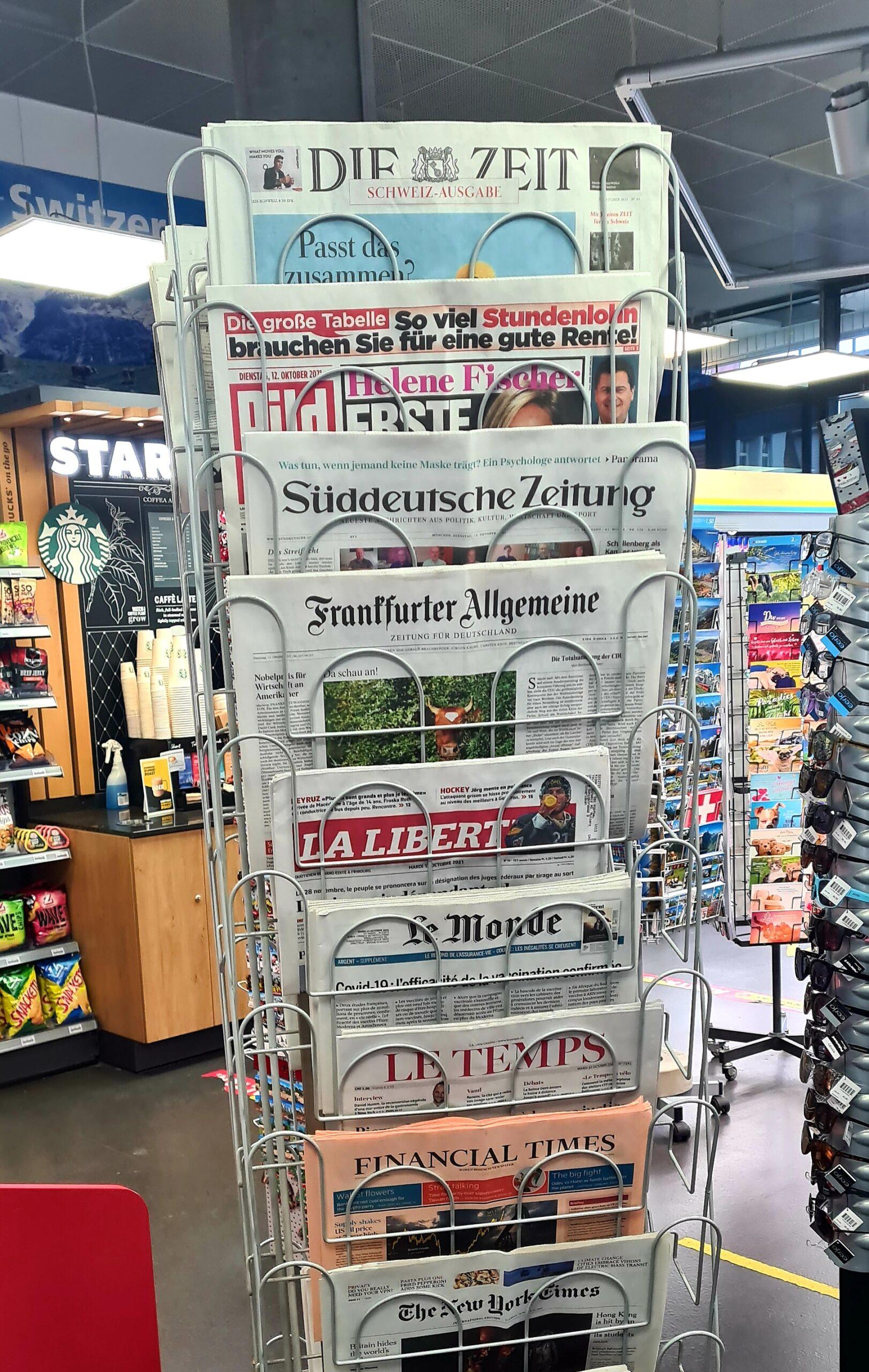 Lieferschwierigkeiten für Zeitungspapier